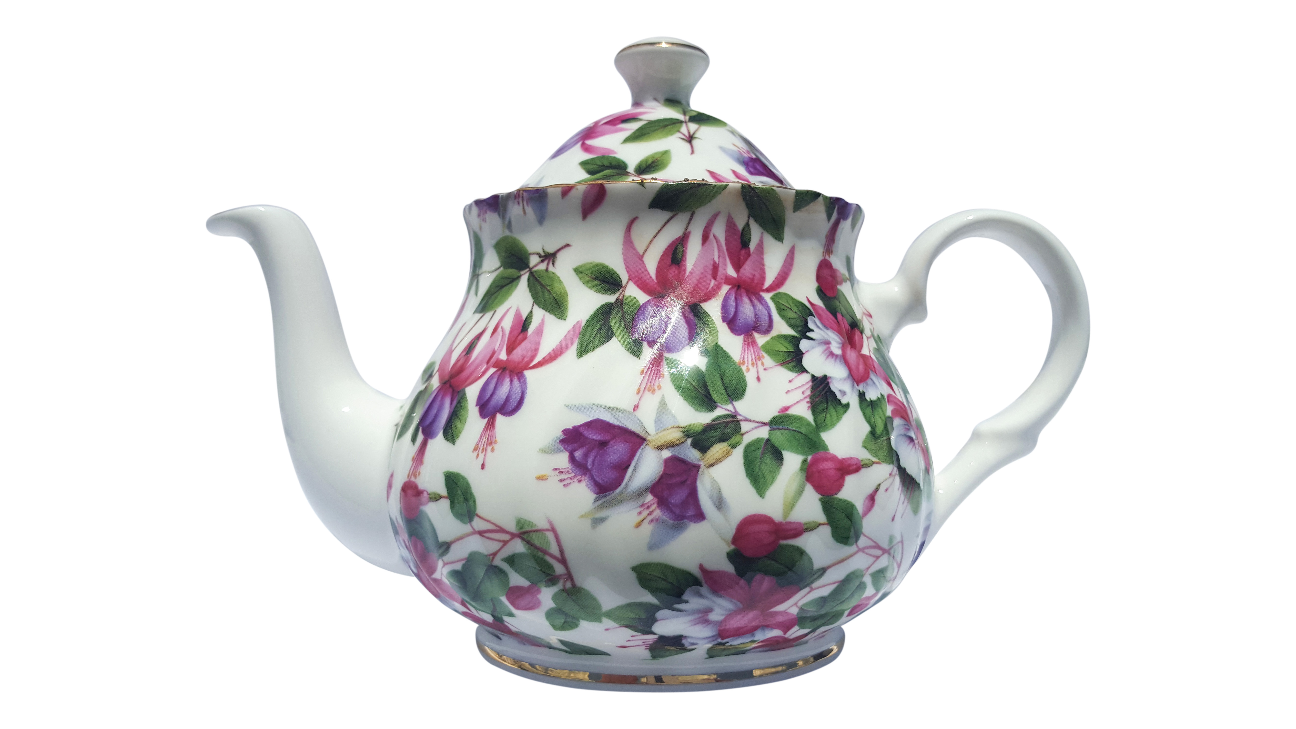 Fuchsia Bloom Chintz 2 Cup Teapot