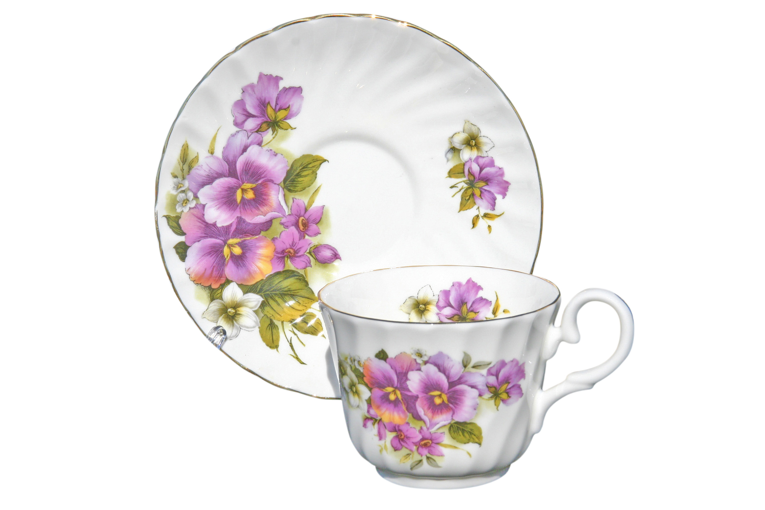 Pansy 1 Cup and Saucer Set