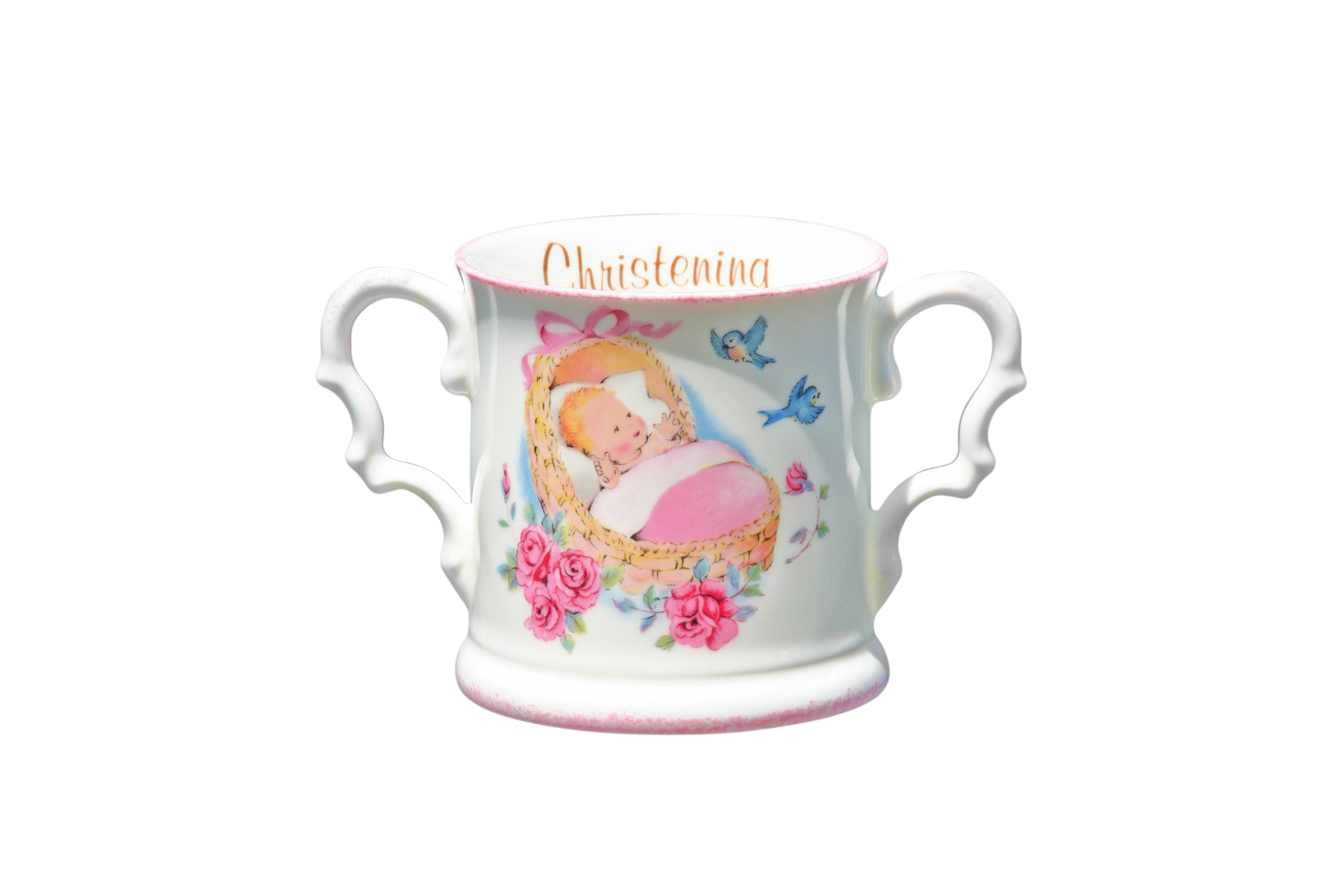 Baby cup Pink Christening