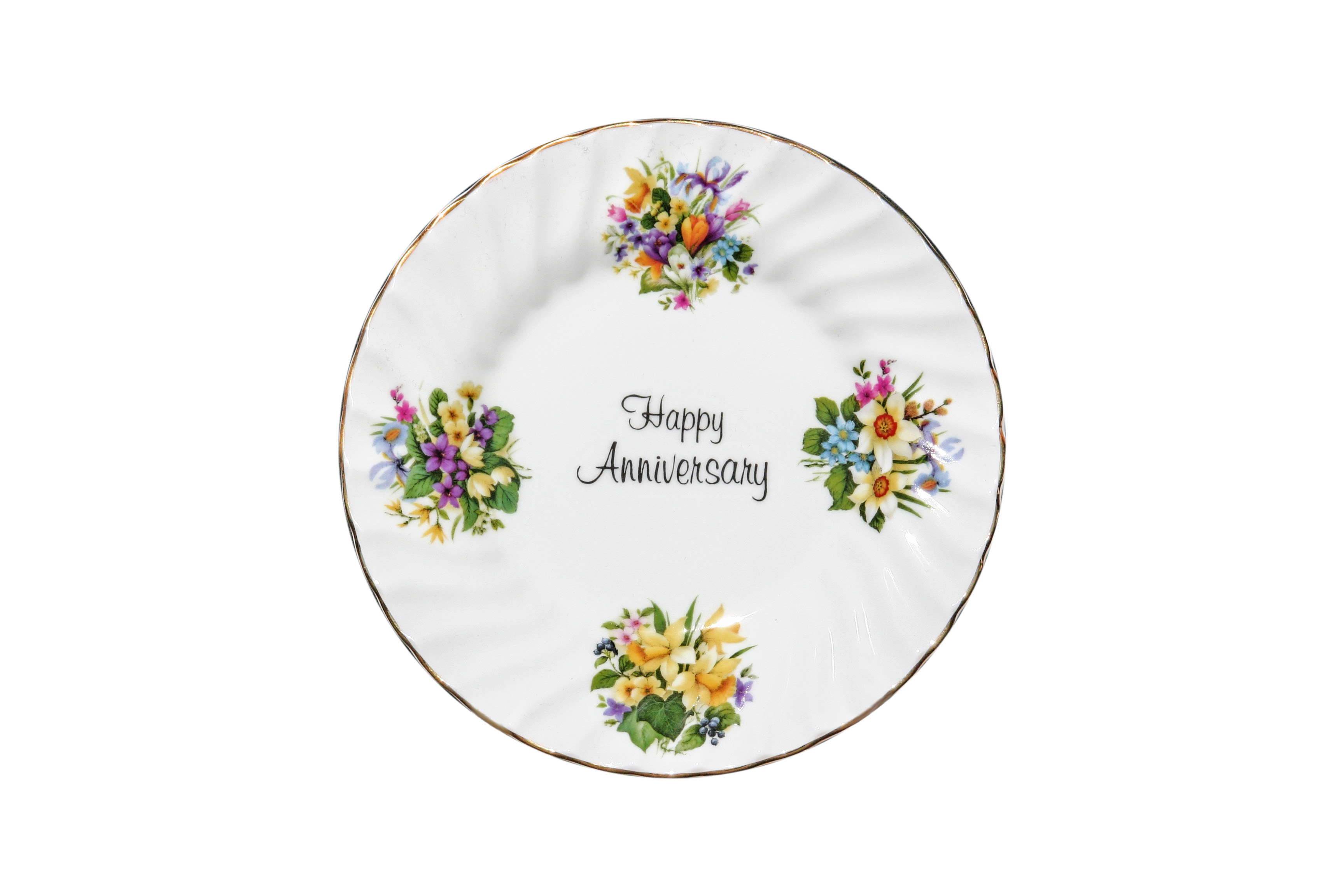 Happy Anniversary Plate (6 inch) with stand