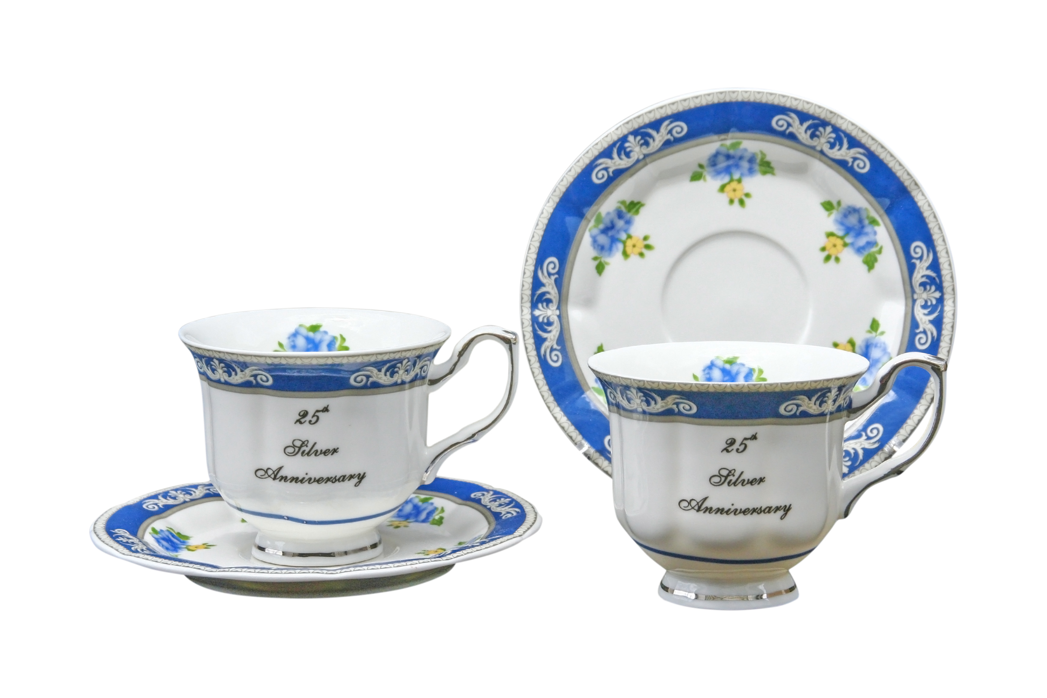 25th Anniversary 2cup and saucer set