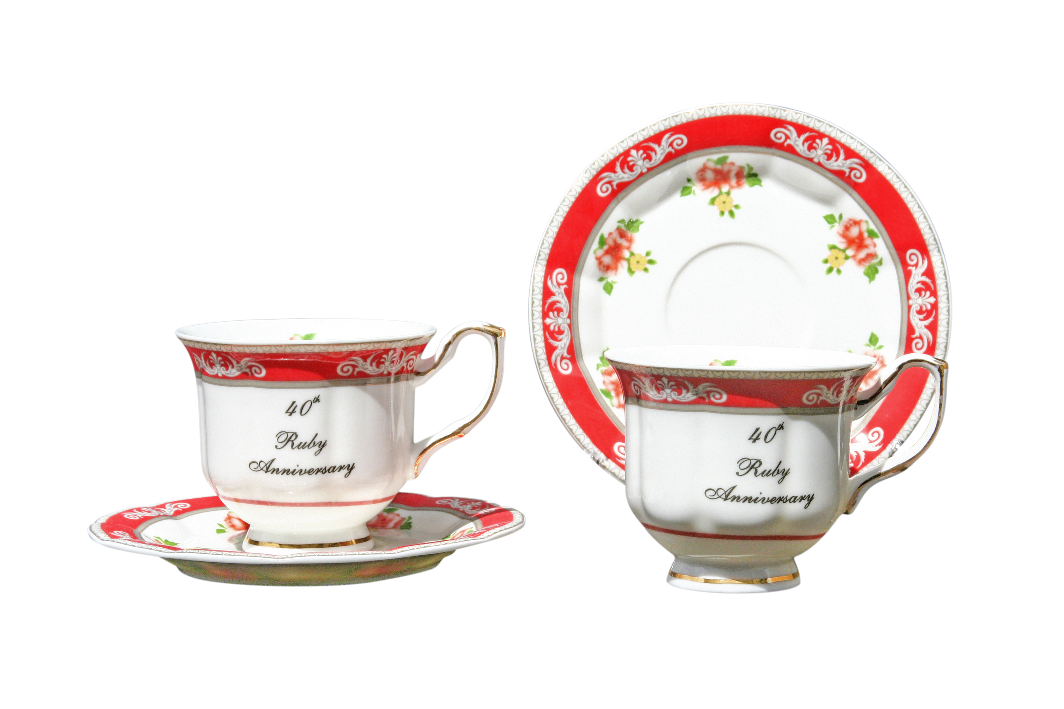 40th Anniversary 2 cup and saucer set
