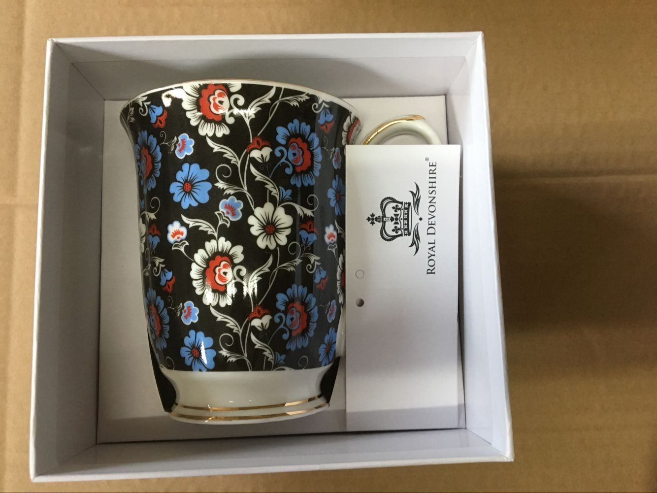 Royal Blue Sprays Chintz Beaker