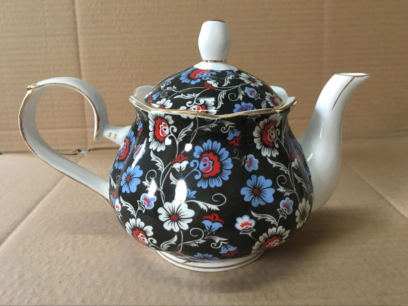 Royal Blue Sprays 4 cup teapot