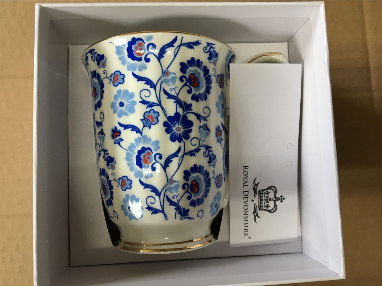 Sunshine Blue Sprays Chintz Beaker