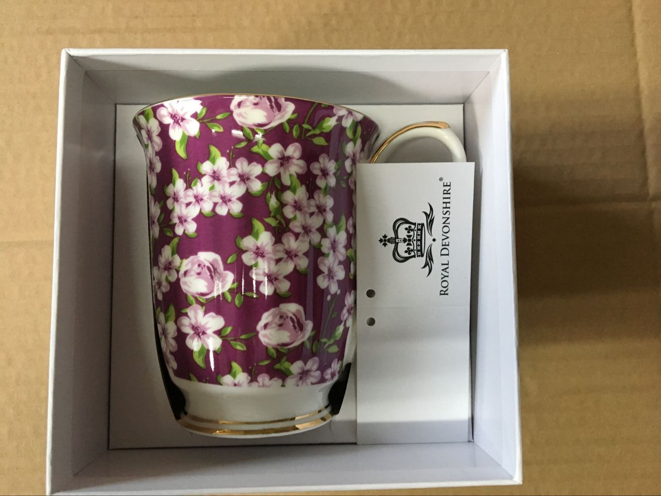 Violet Meadow Chintz Beakers